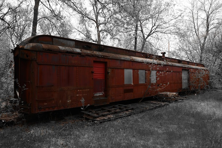 Rust and rust by Jay Anderson - Transportation Trains ( old, color, rail road, train car, rail, train, rust, abandoned )