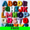 Alphabet, numbers and colors F logo