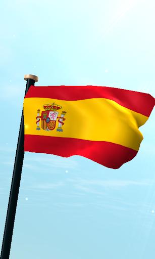 西班牙旗3D動態桌布