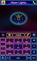 Screenshot of Neon Lights GO Keyboard Theme