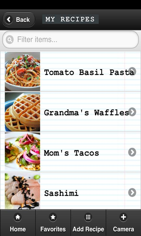 Recipe Box - screenshot