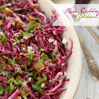 Red Cabbage and Golden Raisin Salad.