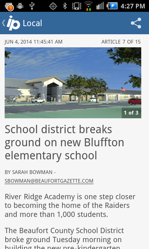 Island Packet Hilton Head news- screenshot