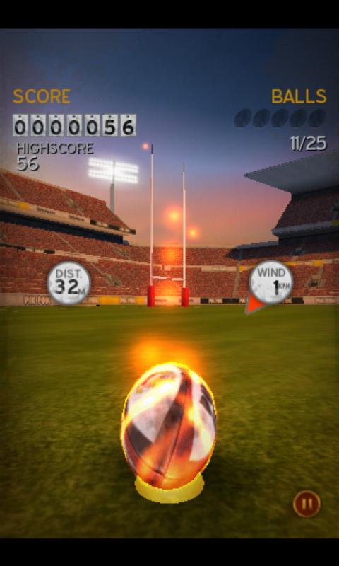Flick Kick Rugby- screenshot