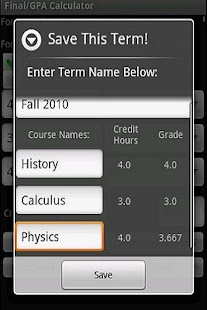 GPA & Final Exam Calculator - screenshot thumbnail