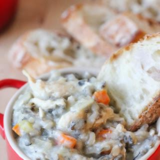 Crockpot Creamy Chicken Wild Rice Soup.
