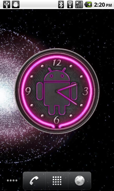 10 Pink Neon Clocks- screenshot