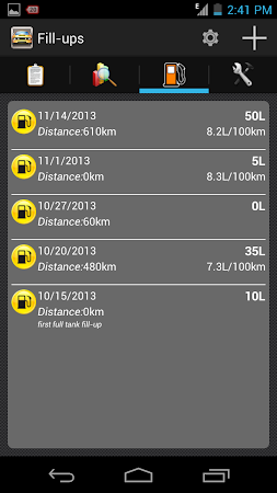 My Fuel Tracker 1.6 screenshot 2015354