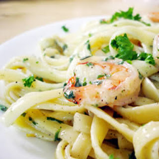 Spicy and Creamy Seafood Pasta.