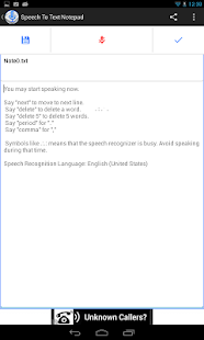 Speech To Text Notepad– miniatura da captura de ecrã