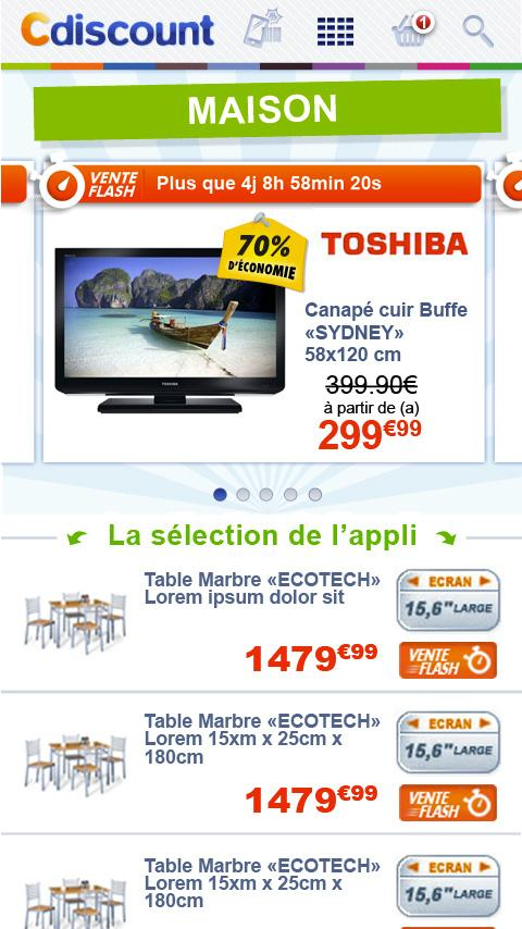 Cdiscount - screenshot