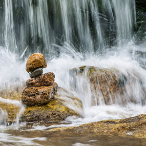 Stone man by Miroslav Havelka - Landscapes Waterscapes ( mumlava, waterscape, stone, harrachov, landscape, man, river )