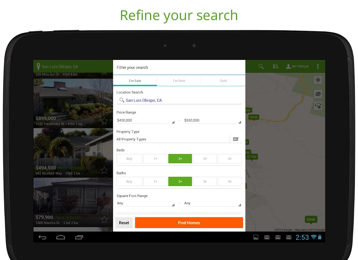 Real Estate & Homes by Trulia - screenshot