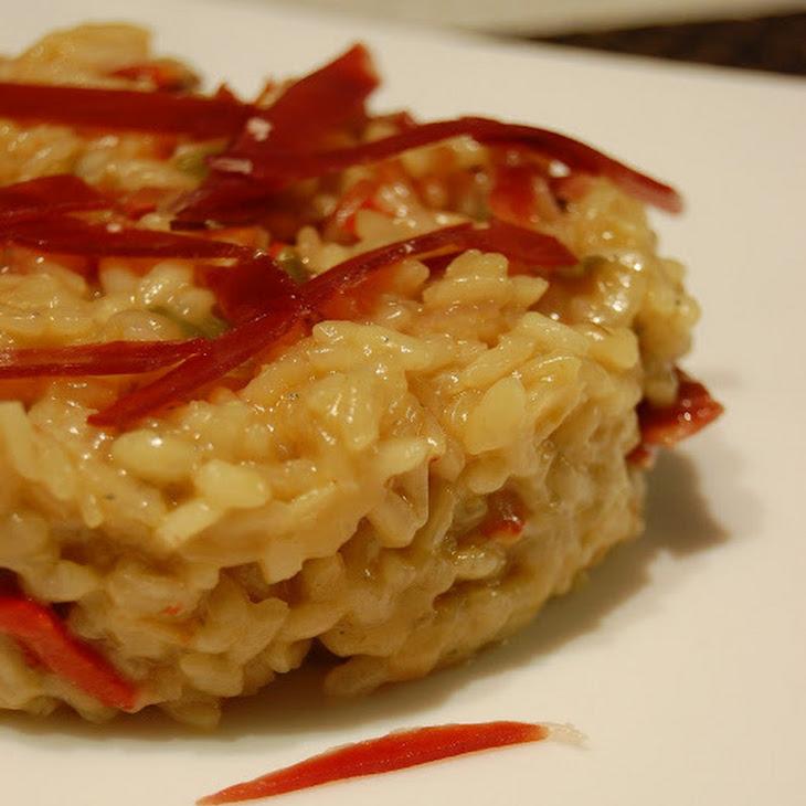 Roquefort and iberian ham risotto recipe yummly for Ham risotto recipe