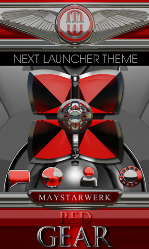 Next Launcher Theme Red Gear