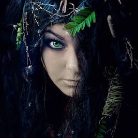 by Chrysta Rae - People Portraits of Women ( woman portrait, girl, woman, green eyes, mother nature, green eye, portrait )