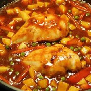 Chicken Afritada.