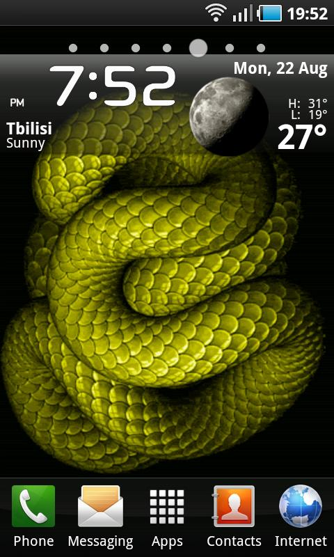 Animated Snake LWP - screenshot