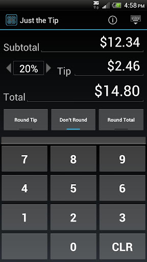 Just the Tip - Tip Calculator