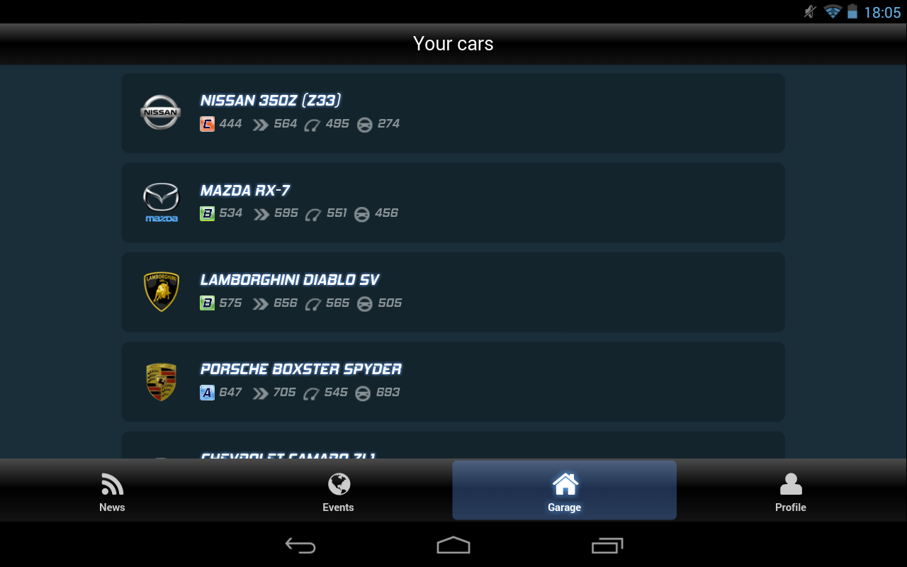 NFS World Autolog - screenshot