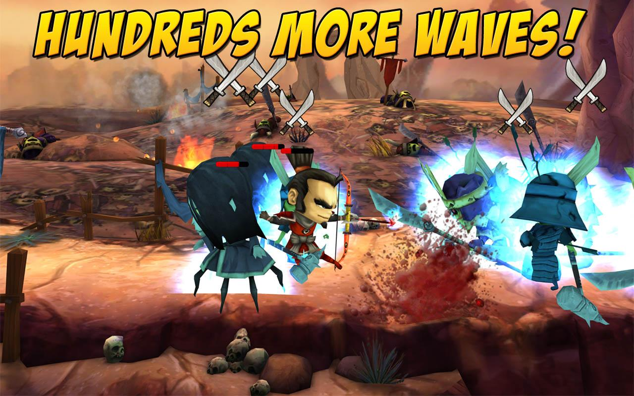 SAMURAI vs ZOMBIES DEFENSE 2 - screenshot