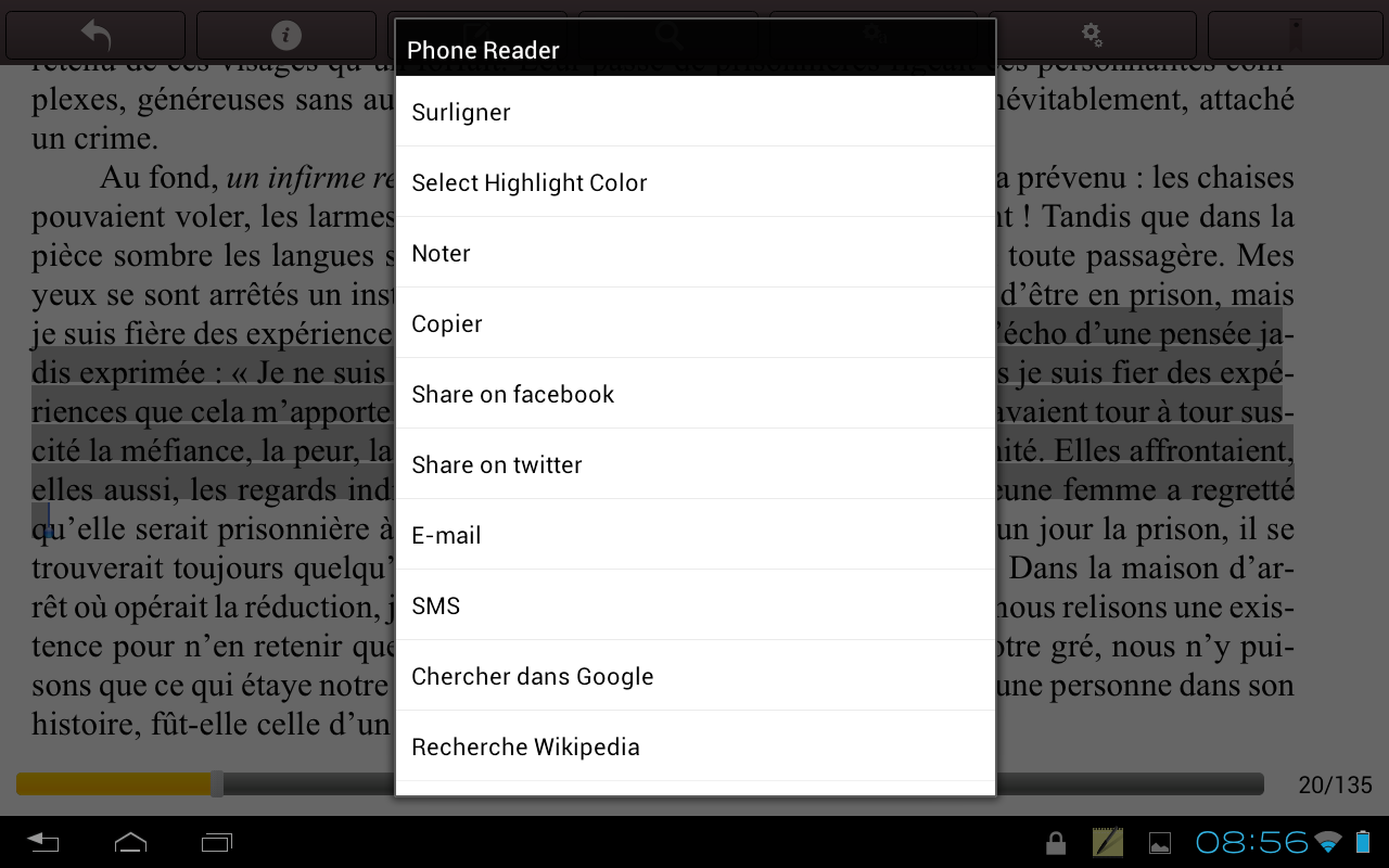 Phonereader- screenshot