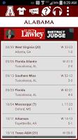 Screenshot of Alabama Football Schedule