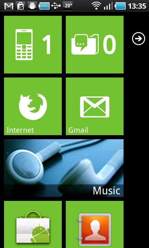 Launcher 7 - screenshot