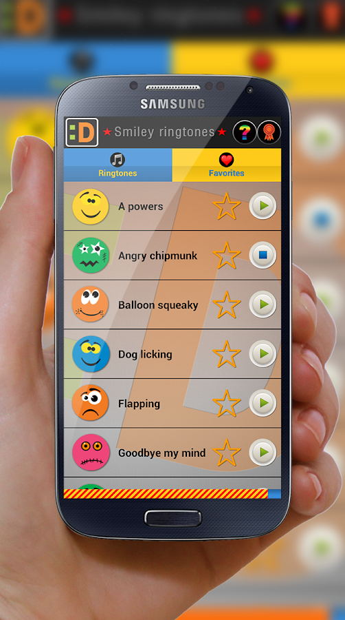 Smiley ringtones - screenshot