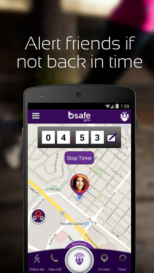 bSafe - Personal Safety App- screenshot