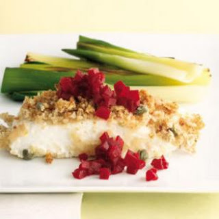 Roasted Halibut with Pickled Beets (Stegte Helleflynder med Rødbeder)