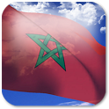 3D Morocco Flag + icon