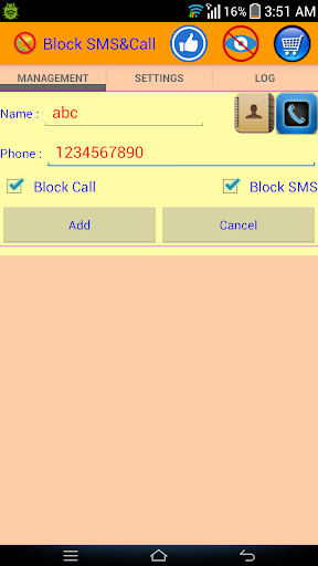 Block SMS And Call