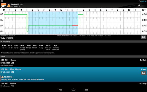 BigRoad Trucking Logbook App- screenshot thumbnail
