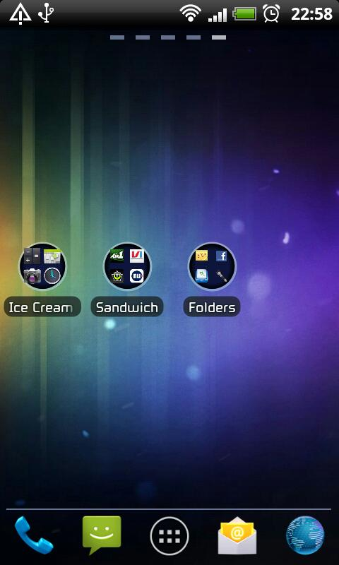 ICS GO Launcher EX Theme- screenshot