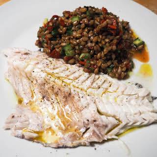 Whole Roasted Fish With Oregano, Parsley, and Lemon.