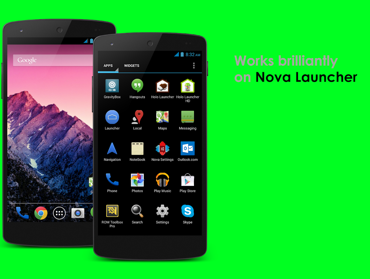 Google themes for android mobiles - Holoray Android Kitkat Theme Screenshot