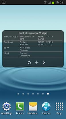 クリケットの試合速報ウィジェットのおすすめ画像3