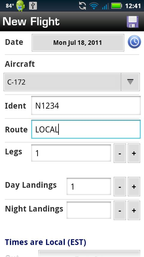 Logbook Pro Flight Log - screenshot