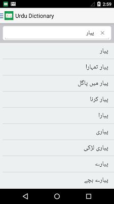 Urdu English Dictionary + - screenshot