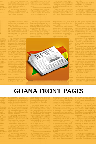Ghana Front Pages