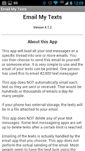 Email My Texts- screenshot thumbnail