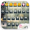 Glass Rain Emoji Keyboard Skin