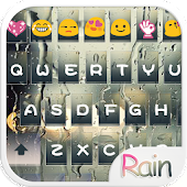 Glass Rain Emoji Keyboard