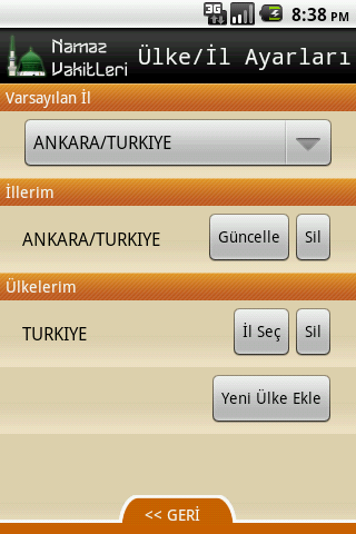 Namaz Vakitleri - screenshot