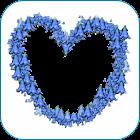 marcos de fotos corazón azul icon