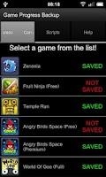 Screenshot of Game Progress Backup