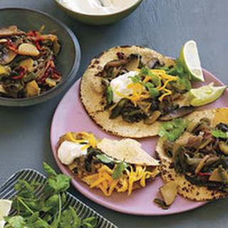 Smoky Poblano-and-Portobello Tacos.
