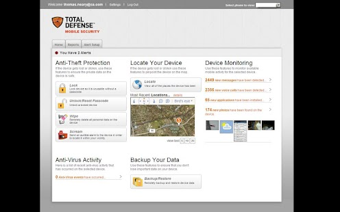Total Defense Mobile Security - screenshot thumbnail