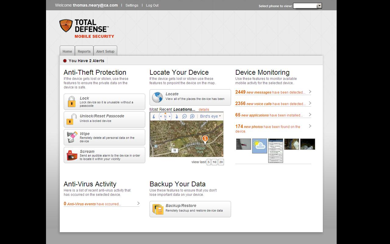 Total Defense Mobile Security - screenshot